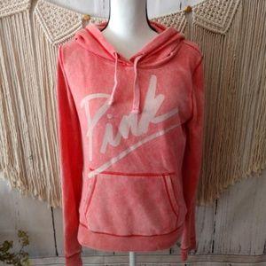 PINK Victoria's Secret Flecked Graphic Hoodie S